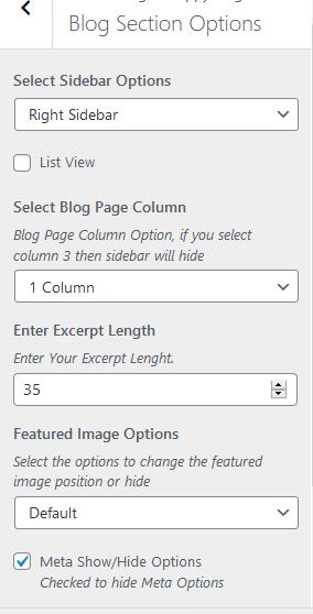 Happy Blog Pro Blog Section