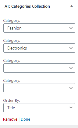AT: Categories Collection